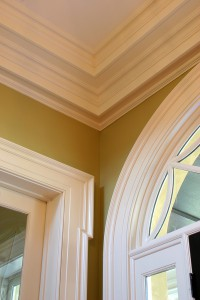 detailed crown molding in upscale residential home
